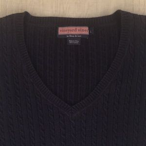 Vineyard Vines Cable Knit Sweater Size Large